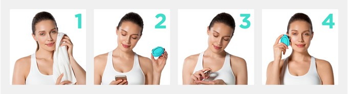 bear mint foreo how to use