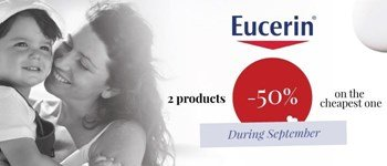 Eucerin month - 50% disount on the 2nd unit