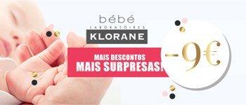 Campanha exclusiva sweetcare➪ klorane bébé -9€