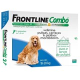 frontline combo spot on 3 pipetas cães m  10-20 kg