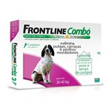frontline combo spot on 3 pipetas cães l  20-40 kg