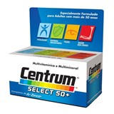 centrum select 50+ multivitaminico com minerais 30comp.