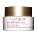 clarins capital lumière creme antienvelhecimento de dia todo tipo peles 50ml