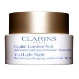 clarins capital lumière creme revitalizante de noite peles secas 50ml