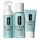 anti-blemish solutions kit 3 passos peles acneicas