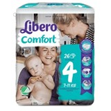 libero fraldas comfort 7-14kg, 26 unidades