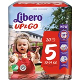 up & go diapers 10-14kg, 22 units