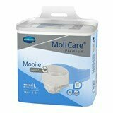 molicare mobile ideal-fit extra disposable underwear large (no 3) 100-150cm 14units