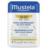 mustela cold cream stick zonas sensíveis e secas 10g