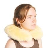 Naturlamb Almofada anti-escaras em lã natural de viagem para cervical 1unid