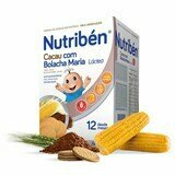 nutriben lactic flour with cocoa and maria wafer from 12months 600g