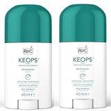 roc keops stick deodorant 2x40ml