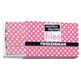 tweezerman hot for dots caixa de mini limas de unhas rosa 12unidades