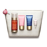 clarins coffret double sérum 30ml+ creme dia 15ml + creme noite 15ml + olhos 3ml