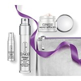 clinique coffret smart serum 30ml + creme firmeza 15ml + smart olhos 5ml + necessaire