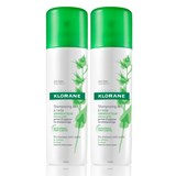 klorane shampoo seco em spray seborregulador extracto de ortiga 2x150ml
