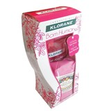 klorane coffret gel de duche bom humor 200ml + sabonete rosa da bulgaria 100g