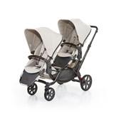 zoom 2017 carrinho de passeio para bebés gémeos cor camel