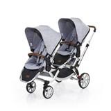 zoom 2017 carrinho de passeio para bebés gémeos cor graphite grey