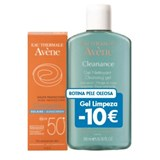 avene kit cleanance solar 50   -10€ gel limpeza