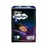 libero fraldas sleep tight 22-37kg, 14 unidades