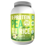 gold nutrition v-protein from pea and brown rice vanilla flavor 1kg