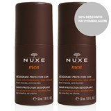 nuxe duo men desodorizante 24h 2x50ml