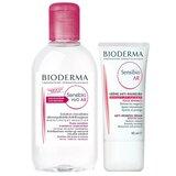 bioderma sensibio ar creme anti-vermelhidão 40ml  + sensibio água micelar ar 250ml