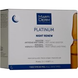 martiderm night renew soft peeling skin renewal, moisturising and cell repair 10ampules