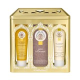 coffret bois d'orange água perf. 100ml + gel douche 50ml + creme corpo 50ml