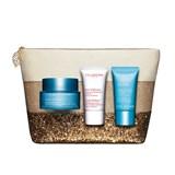 clarins gift ser hydra essentiel cream 50ml + facial exfoliating 15ml + sos mask 15ml
