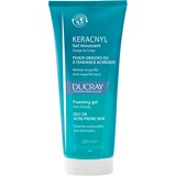 ducray keracnyl foaming gel for oily to acne prone skin 200ml