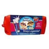 kit viagem kids: escova kids sortida + pasta frutos silv. 50ml + bolsa sortida