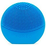 luna play escova de limpeza facial descartável aquamarine