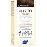 phytocolor coloração permanente 6.77 marron claro cappuccino