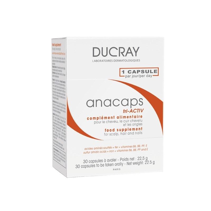 ducray anacaps tri activ suplemento alimentar cabelo unhas desvitalizadas poupe at 10. Black Bedroom Furniture Sets. Home Design Ideas