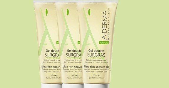 a derma gel duche gordo peles sensiveis limpeza