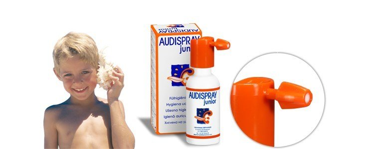 audispray junior limpeza auricular criancas