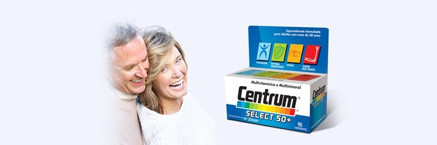 centrum select 50mais suplemento multivitaminico minerais