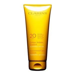 clarins creme solaire confort fluide douceur moyenne