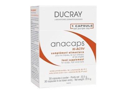 ducray anacaps tri activ suplemento alimentar cabelo unhas