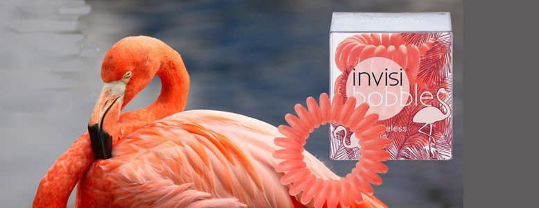 invisibobble elastico fancy  flamingo coral 3 unidades
