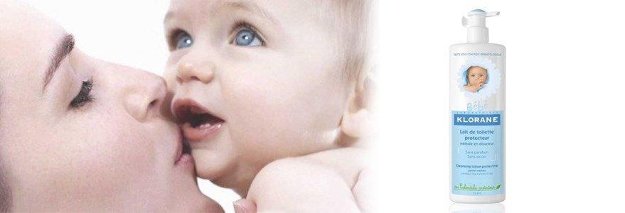 klorane bebe leite hidratante toilette