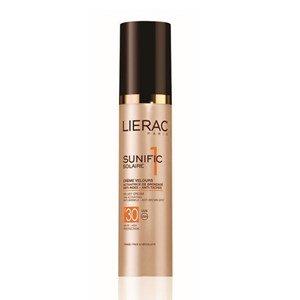lierac sunific 1 creme veludo spf 30 protetor solar antienvelhecimento