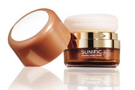 lierac sunific 2 po iridescente bronzeado rosto antienvelhecimento dourado