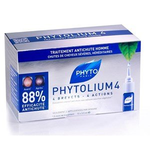 phyto lium 4  ampolas anti queda cabelo severa hereditaria