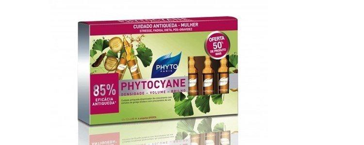 phyto phytocyane serum anti queda cabelo feminina 12 6ampolas
