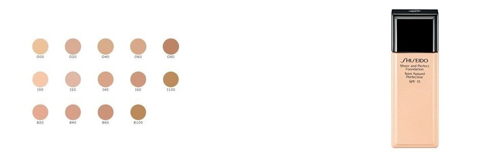 shiseido sheer perfect foundation spf15 base fluida