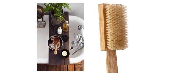 tek escova banho em madeira fibras tampico duras
