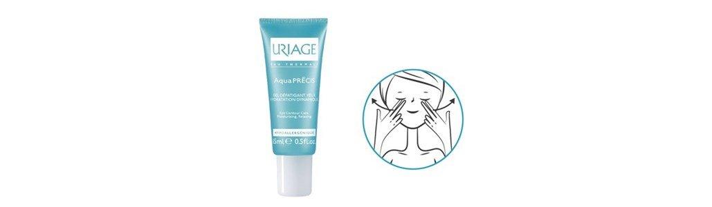 uriage aquapresis gel contorno olhos